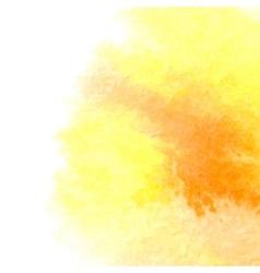 Watercolor orange background vector image