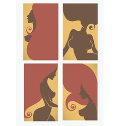 beauty cards vector image vector image
