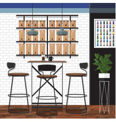 best coffee shop design vector image
