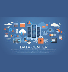 data center cloud computer connection hosting vector image vector image