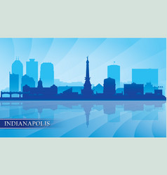Indianapolis city skyline silhouette background vector