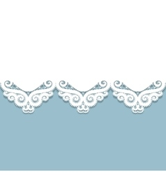 paper lace border vector image