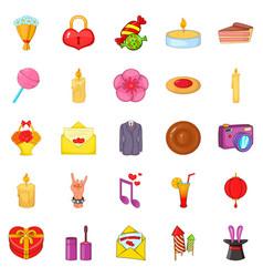 revels icons set cartoon style vector image