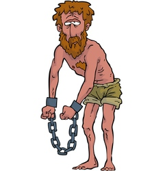slave in shackles vector image