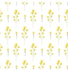 Spring wild yellow flower field seamless pattern vector image