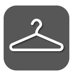 The hanger icon Coat rack symbol Flat vector image