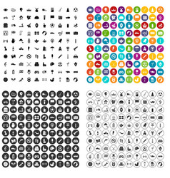 100 ball icons set variant vector