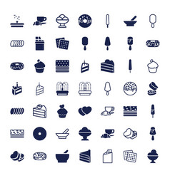 49 chocolate icons vector