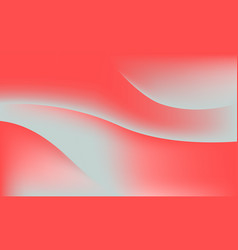 abstract coral color soft gradient waves vector image