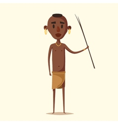African man Indigenous south American Cartoon vector image
