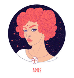 Aries astrological sign vector