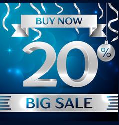 Big sale buy now twenty percent for discount vector