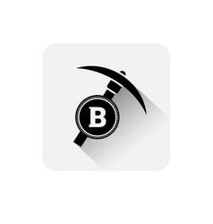bitcoin mining icon modern web money digital vector image