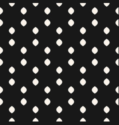 black and white dots seamless simple pattern vector image
