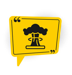 Black nuclear explosion icon isolated on white vector