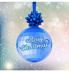 Blue Christmas Ball Background EPS 10 vector image