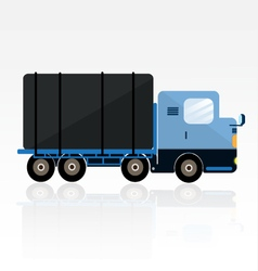 BLUE TRAILER CARTOON vector image