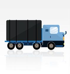 BLUE TRAILER CARTOON vector