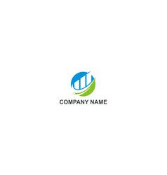 business finance abstract trade company logo vector image