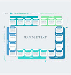 business infographic template in flat style vector image