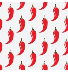 Chilli pepper geometric seamless pattern vector