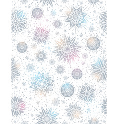 Christmas seamless pattern background with silver vector