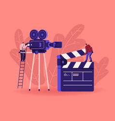 Cinema and cinematography industry concept vector