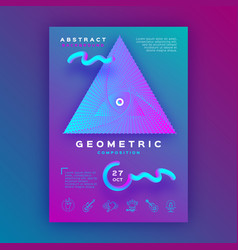 colorful geometric background gradient fluid vector image