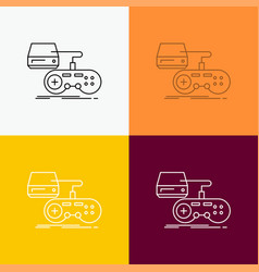 console game gaming playstation play icon over vector image