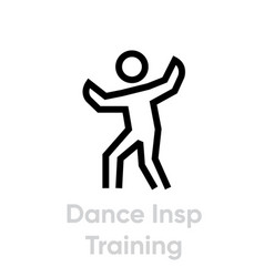 dance insp training activity icon vector image