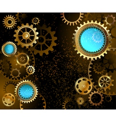 Dark background with gears vector