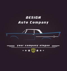 design retro classic car service sign vector image
