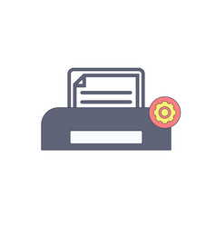 document paper print printer settings icon vector image