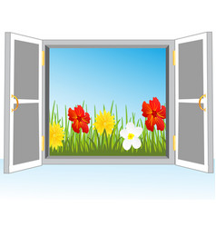 Door in nature vector