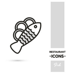 Fish linear icon vector