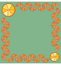 Frame made of orange slices your text in the vector image vector image