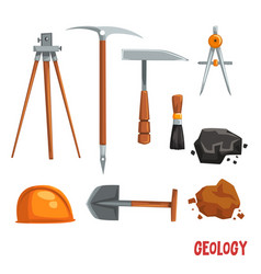 Geological or mining industry equipment geodetic vector