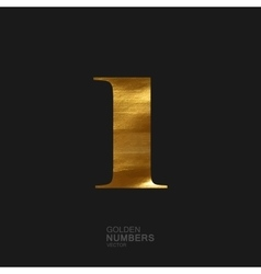 Golden number 1 vector image