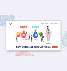 good and bad cholesterol landing page template vector image
