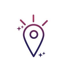 gps pointer location destination social media vector image