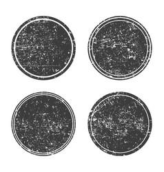 grunge round black framesbannersset vector image