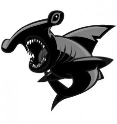 Hammerhead shark vector