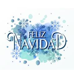 Hand sketched Feliz Navidad Nappy New Year In vector image
