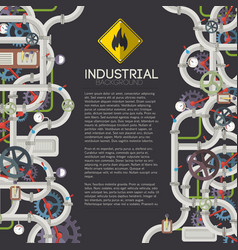industrial mechanical background vector image