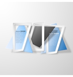 Infographic banners set origami styled vector image