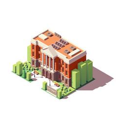 Isometric university building vector