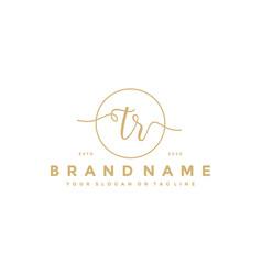 Letter tr feminine logo design vector
