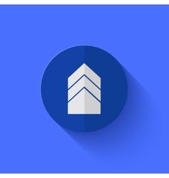 Modern flat blue circle icon vector