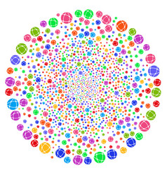 network curl twist vector image