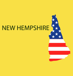 New hempshire state of america with map flag vector